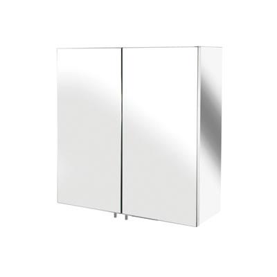 Croydex Avon Stainless Steel Cabinet - Double Door - 440 x 430 x 160mm