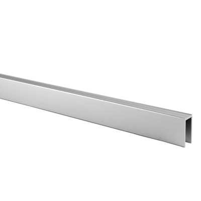 Premier Channel Headrail - Satin Anodised Aluminium - 12-13mm Panels)