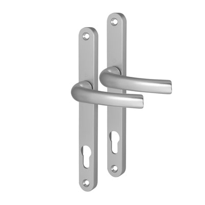 Hoppe Tokyo Multipoint Handle - uPVC/Timber - 92mm centres - 60-70mm door thickness - Silver