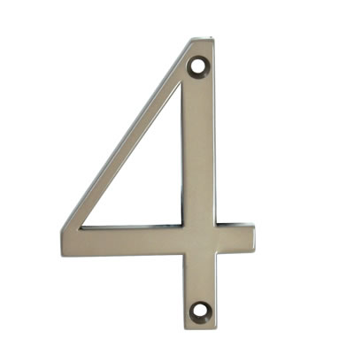 76mm Numeral - 4 - Bright Bronze