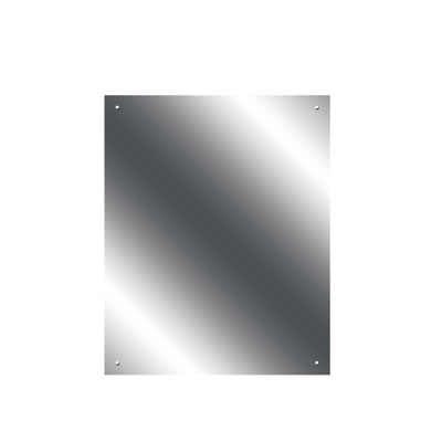 Pre Drilled Mirror - 400 x 500mm - Ultrabright Finish)