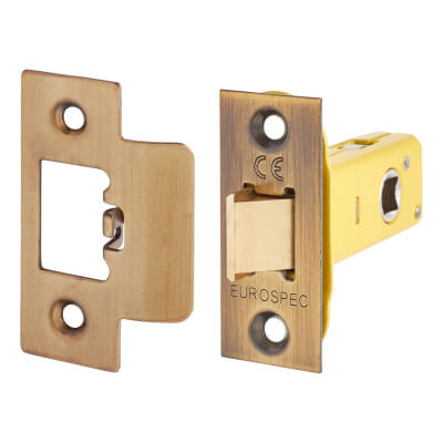 Altro Heavy Duty Tubular Latch - 65mm Case - 44mm Backset - Florentine Bronze