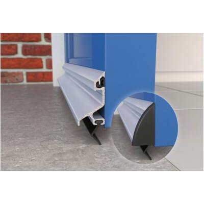Exitex Standard Rain Deflector and Drip Bar - 914mm - Mill Aluminium)