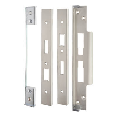 A-Spec Architectural Rebate Kit for DIN Euro Sashlock and Bathroom Lock - Satin Stainless