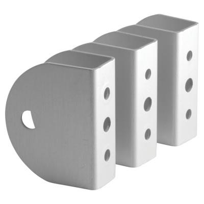 Premier Wall/Panel Bracket - Satin Anodised Aluminium - 17-19mm Panels