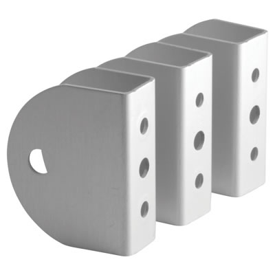 Premier Wall/Panel Bracket - Satin Anodised Aluminium - 17-19mm Panels - Pack 3