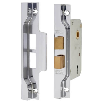 ERA® 2 Lever Rebated Sashlock - 77mm Case - 56mm Backset - Nickel Plated)