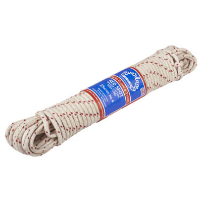 Everlasto No.4 Red Spot Waxed Sash Cord - 7mm - 25M Knot)