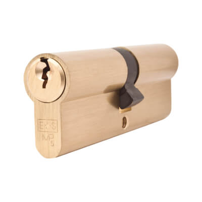 5 Pin Cylinder - Euro Double - 45 + 45mm - Brass