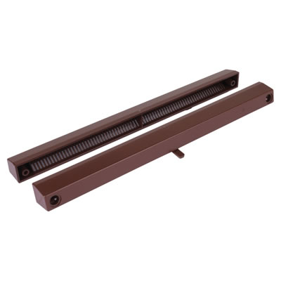Slotvent 3000 S With Bottom Operation Switch - Brown - uPVC / Timber)
