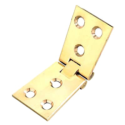 Counter Flap Hinge - 100 x 40 x 3mm - Polished Brass