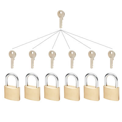 Group of Master Keyed Padlocks - 50mm - Set 6)