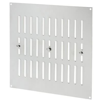 Hit & Miss Pattern Vent - 242 x 242mm - 1960mm2 Free Air Flow - Satin Stainless)