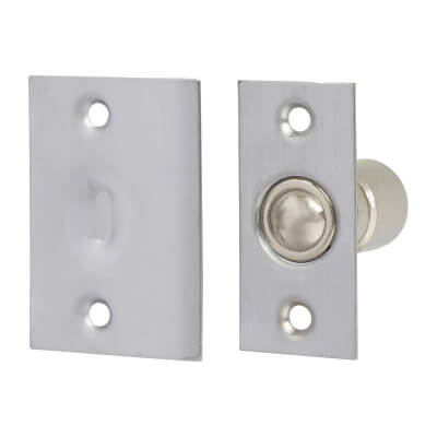 Ball Catch - Satin Chrome Plated)