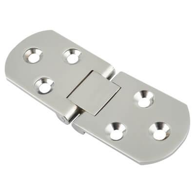 Cabinet Flap Hinge - 80 x 30 x 2.5mm - Polished Chrome