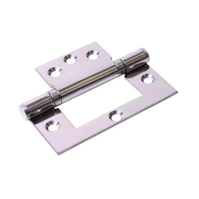Ball Bearing Flush Hinge - 102 x 74 x 2.5mm - Polished Stainless Steel - Pair