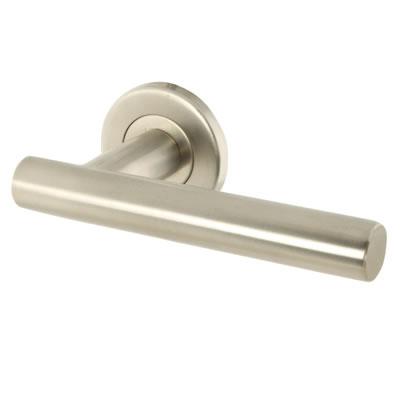 Altro 19mm Straight Tee Bar Door Handle - Satin Stainless Steel