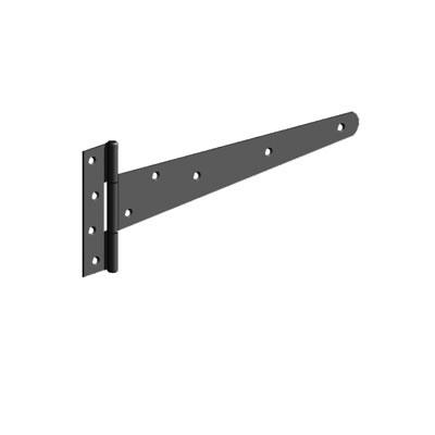 Strong Tee Hinge - 450mm - Black Galvanised