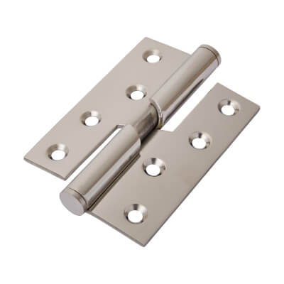 Rising Butt Hinge - 102 x 76 x 2mm - Right Hand - Polished Stainless Steel)