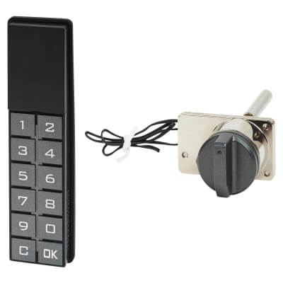 Code Operated Central Drawer Lock - Vertical Keypad