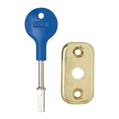 Altro Security Conversion Pack for Tubular Bathroom Deadbolt - Electro Brass