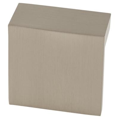 FingerTip Design L Profile Cabinet Knob - 48 x 23mm - Satin Nickel)