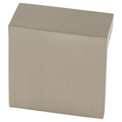 FingerTip Design L Profile Cabinet Knob - 48 x 23mm - Satin Nickel