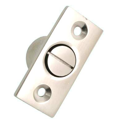 Screw Out Sash Stop - 44 x 19mm - Satin Nickel