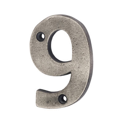 Olde Forge 78mm Numeral - 9 - Pewter)
