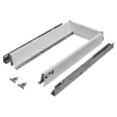 Blum TANDEMBOX ANTARO Drawer Pack - BLUMOTION Soft Close - (H) 84mm x (D) 550mm x (W) 400mm - White
