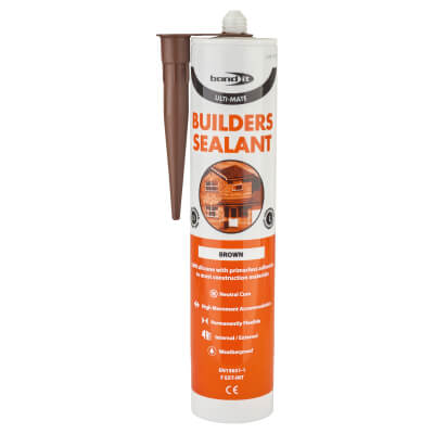 Bond It Ulti-Mate Builders' Silicone - 310ml - Brown)
