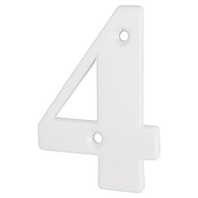 76mm Numeral - 4 - White