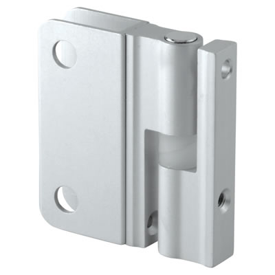 Premier Self Closing Hinge - Satin Anodised Aluminium - 12-13mm Panels)