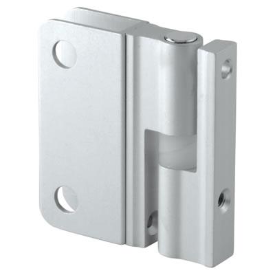 Premier Self Closing Hinge - Satin Anodised Aluminium - 12-13mm Panels