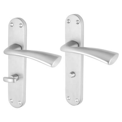 Morello Verona Door Handle - Bathroom Set - Satin Chrome