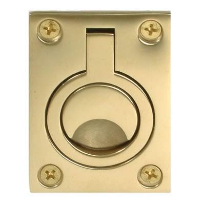 Altro Flush Ring - 62 x 44mm - PVD Brass)