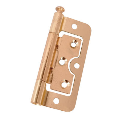 Loose Pin Hurlinge - 100 x 60 x 2mm - Brass Plated - Pair