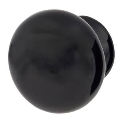 Elan Ceramic/Porcelain Cabinet Knob - 30mm - Black