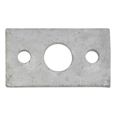 Spare Keep - Flat - 12mm Bolt - Zinc Plated