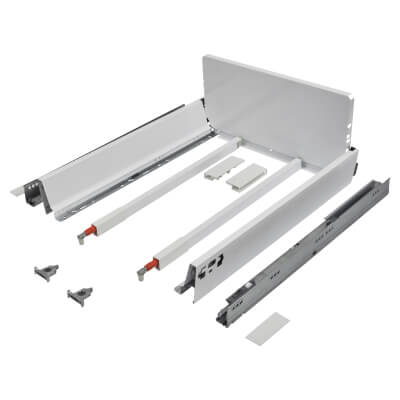 Blum TANDEMBOX ANTARO Pan Drawer - BLUMOTION Soft Close - (H) 203mm x (D) 500mm x (W) 450mm - White
