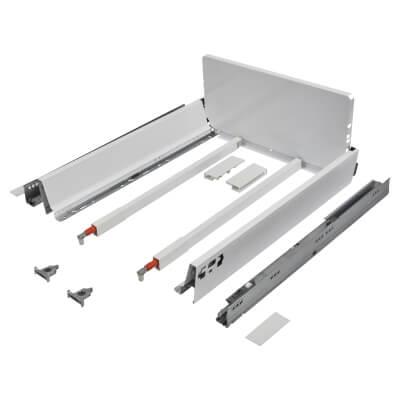 Blum TANDEMBOX ANTARO Pan Drawer - BLUMOTION Soft Close - (H) 203mm x (D) 500mm x (W) 450mm - White