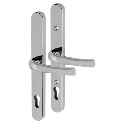 Yale® - uPVC Universal handle - 92mm centres - Polished Chrome)