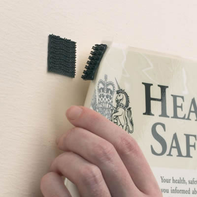 Velcro Sign Fixings - Pack 4)