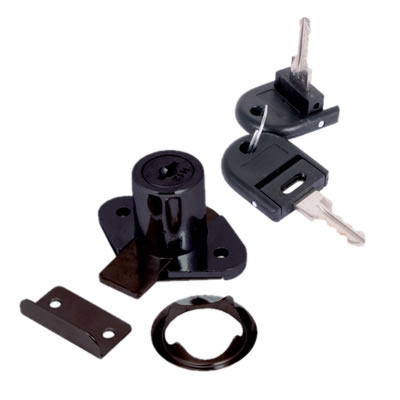 Drawer Lock - 19 x 22mm - Keyed Alike Differ 1 - Black Nickel