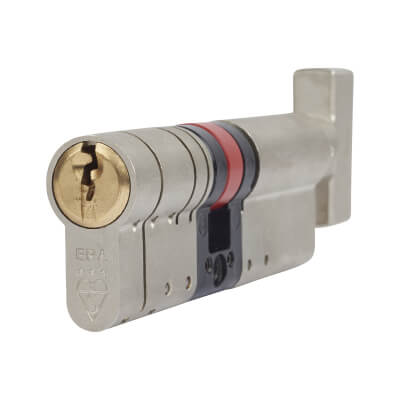 ERA 3 Star Fortress Cylinder - Euro Thumbturn - Length 90mm - 50[k]* + 40mm - Nickel and Brass