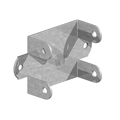 Easy Use Fence Panel Clip - Galvanised - 52mm)