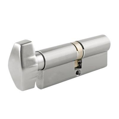 UNION® J2X28 Cylinder - Euro Double & Thumbturn - 32[k]* + 32mm - Satin Chrome)