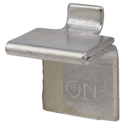 ION Heavy Duty Flat Bookcase Clip - Polished Nickel - Pack 10)