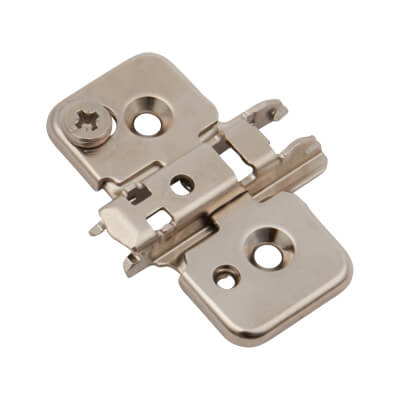 Blum Mounting Plate - 0mm spacing - Pressed Steel