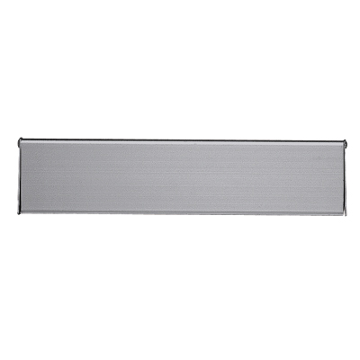 Outer Letter Plate - 250 x 80mm - Satin Aluminium